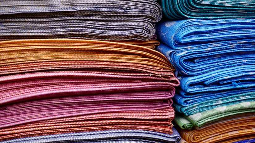 abstract cloth colors cotton